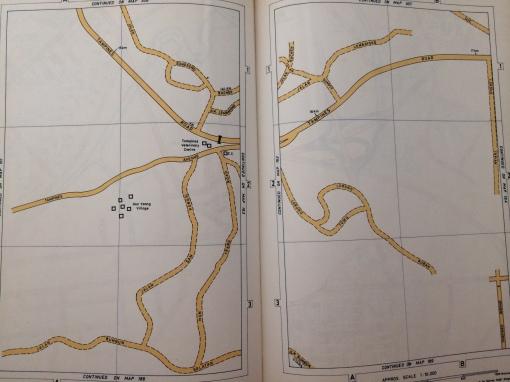 Map showing location of Hun Yeang Village.