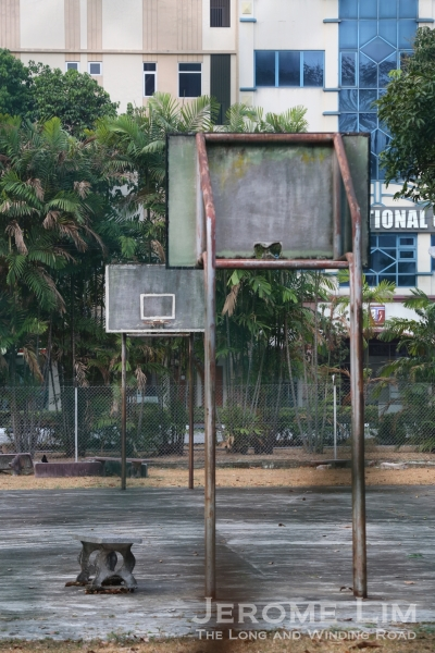 One of the basketball courts today.