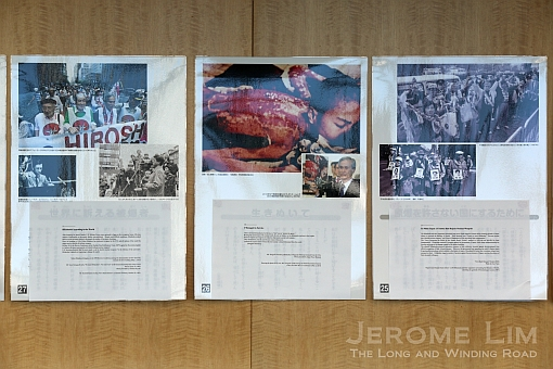 Some of the horrifying images seen in the aftermath - on display at the session.