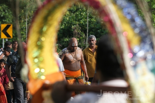 A view through a kavadi.