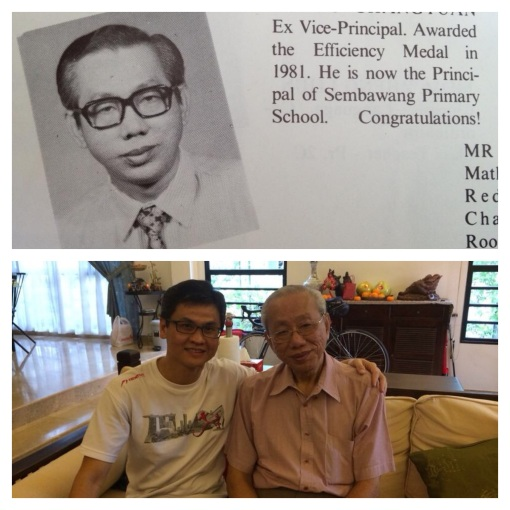 This gentleman was our senior assistant then. I got to meet him during this CNY for the first time since 1977 (37 yrs later). Pretty overwhelming..