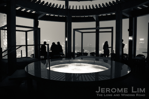 A whirlpool with a view. The open-air terrace at Level 33 of the Vue Bar.