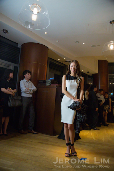 Ms Hyejin Kim, Me-In's Creative Director at the opening of the event showing off a 'Work' outfit that is sophisticated yet informal that reflects a move away from the 'stuffy' office attires once found in the Korean workplace.