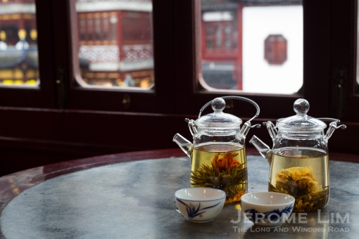 Tea in the Huxinting Teahouse, which has a centuries old tradition.