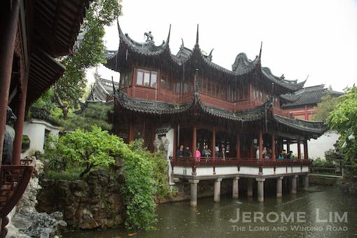 A carp filled pond in Yu Yuan.