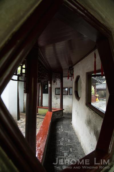 A walkway in Yu Yuan.