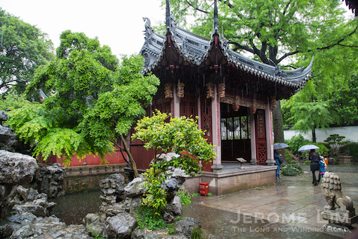 The garden has some nice examples of Chinese architecture.