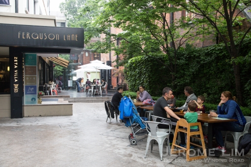 Ferguson Lane in the former French Concession and its modern cafes.