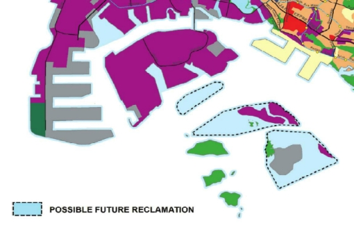 Possible future reclamation poses a threat to the future of the reefs (and the islands).