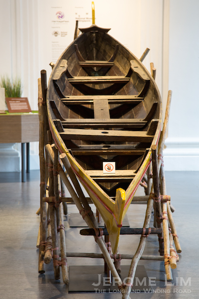A kolek sauh from Pulau Seraya at the exhibition - boats were an integral part of island life and featured in races the islands played host to.