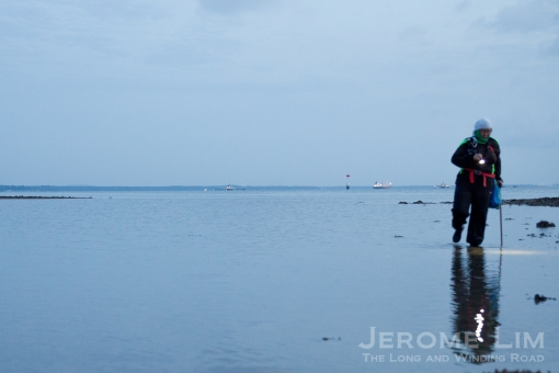 Walking with a walking stick on water - Ria Tan.