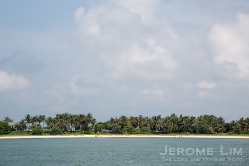 A sandy beach at Pulau Seringat - an enlarged island which incorporates the former reef island of Pulau Renggit.