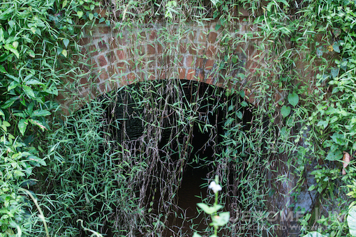 A red brick culvert.