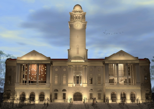 An artist impression of the refurbished Victoria Theatre and Concert Hall (courtesy of W-Architects).