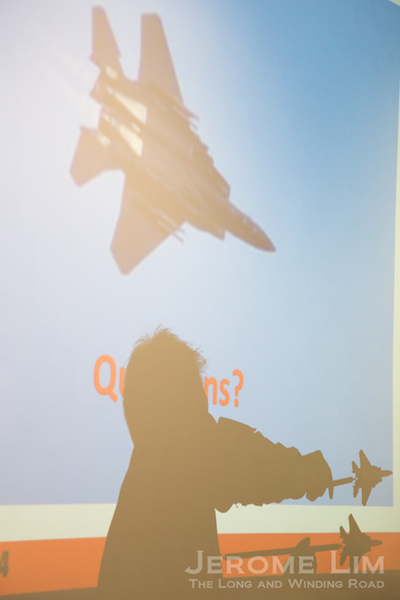Shadow play - MAJ Nick Wong demonstrating how tight the aircraft are in maintaining formation.