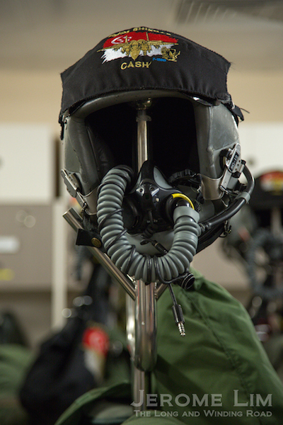The flight helmet.
