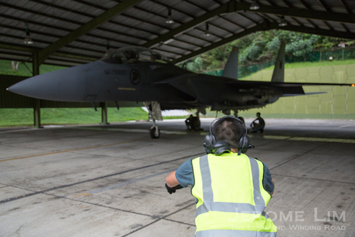 Getting Ready to launch the F-15SG.