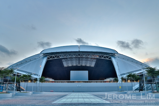 The new National Stadium seen from its south end, looking as if it is about to roar.