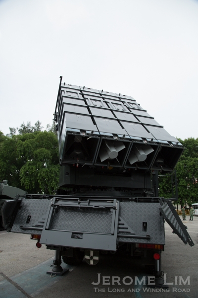The Republic of Singapore Air Force (RSAF) Surface-to-Air PYTHON-5 and DERBY-Short Range (SPYDER-SR) ground-based air defence system - another asset the audience will see during the Dynamic Display.