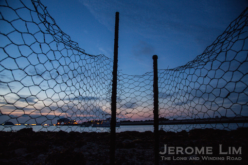 A less than romantic find - a fish trap erected on the reef.