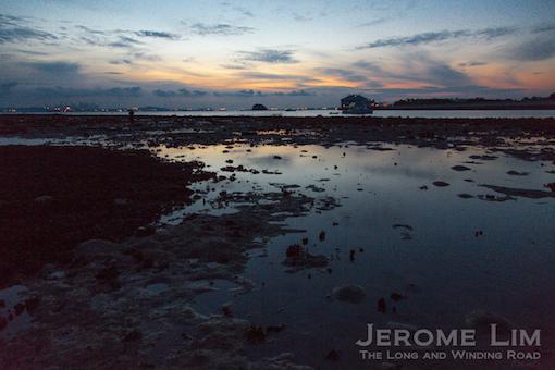 The terumbu at sunrise.