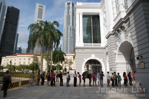 The queue at the opening of the Open House.