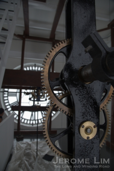 We got a peek at the inside of the clock tower.