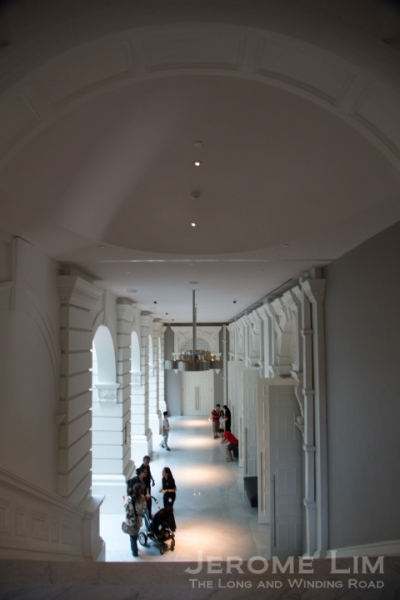A passageway regained by the side of the concert hall.