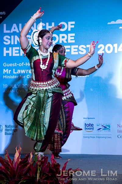 A cultural performance at the launch of Singapore HeritageFest2014.