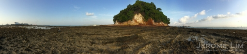 A pano of the southern foreshore of Pulau Jong.