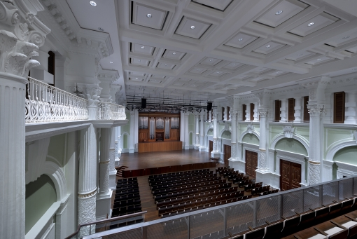 The refurbished concert hall (photo courtesy of Victoria Theatre and Concert Hall).