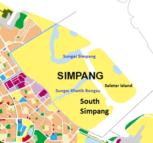 URA Master Plan 2014, showing the reserve area at Simpang.