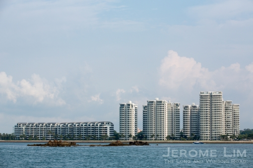 The eastern end of Sentosa today with Terumbu Buran in the foreground.