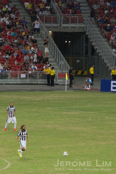 And the man they came to see, Andrea Pirlo.