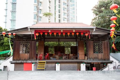 The wayang stage at Tan Kong Tian in the Ulu Pandan area.