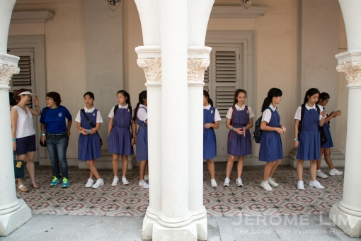 Once familiar scenes returned for a day to the corridors of the old convent.