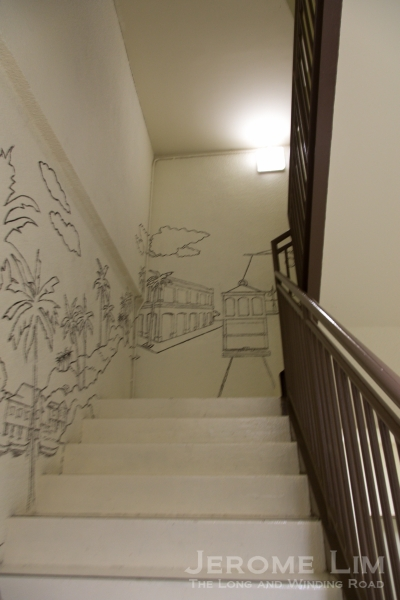 The staircase to the roof terrace.