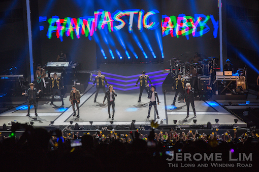 K-Pop group BIGBANG - clearly the highlight of the evening's lineup on stage.