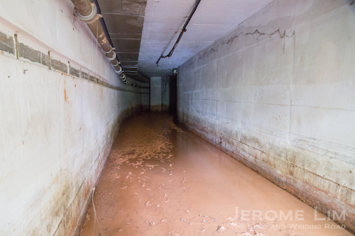 The passage to the storage area.