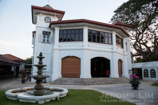 The Alkaff Mansion, restored to its former glory.
