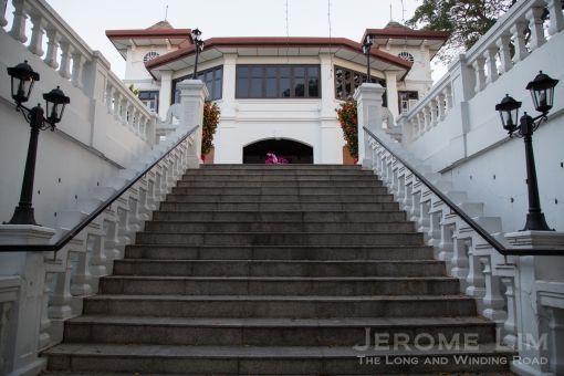 The staircase leading up to the terrace.