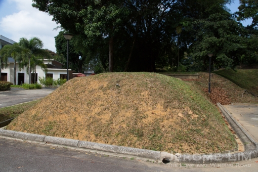 What I am told are mounds that hide underground bunkers that were used for storage.