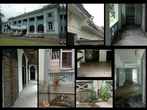 The condition of the heritage building before S P Jain refurbished it (photographs courtesy of S P Jain School of Global Business.