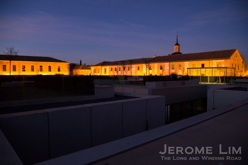 The roof top garden by night.