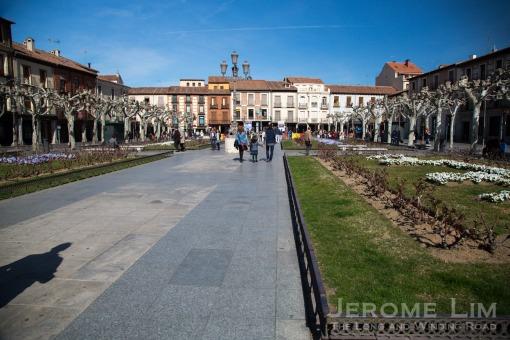 The northern half of Plaza de Cervantes.