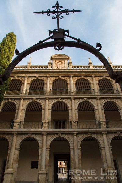 The Colegio de San Ildefonso built by Cardinal Cisneros.