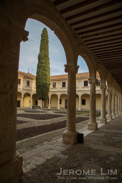 A courtyard inside the historic Colegio de San Ildefonso of the University of University of Alcalá.