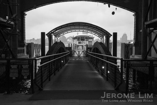 The ferry berth.