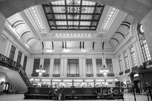Another look at the Waiting Room and its magnificent skylight.