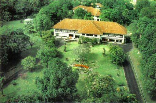 An aerial view of the former Commodore Superintendent's residence.